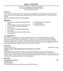 ... Child Development associate Sample Resume Luxury Sample Special  Education Teacher Resume Special Education Teacher ...