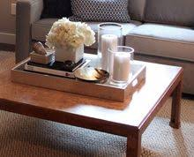 Decorating With Trays On Coffee Tables 60 Try your hand at a tablescape Start with a rectangular tray 20