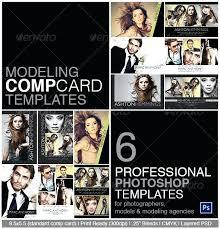 Modeling Comp Card Template Composite Model Photoshop