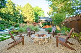 superb polywood in patio contemporary with pea gravel patio next to outdoor fire pit alongside fire
