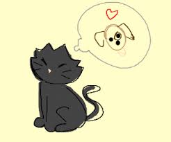 cats and dogs in love drawing. Modren Cats Black Cat And Dog Love Each Other Inside Cats And Dogs In Love Drawing O