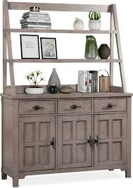 dining room furniture tech buffet and hutch gray