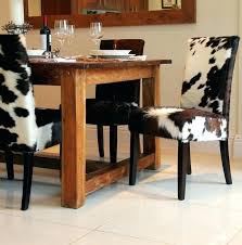 beautiful cowhide chairs cow print dining chair printed room pertaining to ideas 5