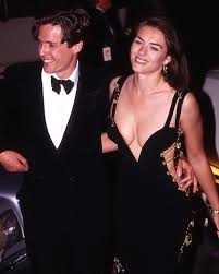 Hugh Grant and Elizabeth Hurley at the premiere of