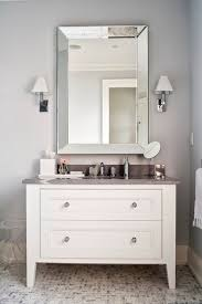 white bathroom cabinets gray walls. bathrooms - silver gray walls beveled mirror white bathroom vanity marble top mosaic s tone floor cabinets