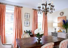 apricot colored curtains peach color