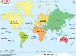 World Map With Continents Map Of Continents