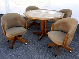 sensational inspiration ideas swivel dining chairs with casters 9 dining room