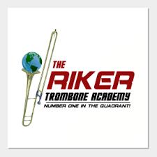 riker trombone academy wall art by sterling arts design 16 main tag star trek the next generation  on star trek the next generation wall art with star trek the next generation wall art teepublic