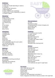 New Baby Checklist | pie mummy