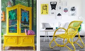 yellow furniture. Yellow_painted_furniture_via_Design_Lvers_Blog Yellow Furniture