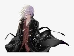 anime boy white hair red eyes png image