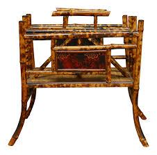 Rattan Magazine Holder Furniture Magazine Rack Table Beautiful Vintage Used Bamboo 85