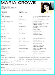 Beginners Acting Resume Beauteous Sample Acting Resume Free Professional Resume Templates Download