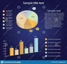Isometric 3d Vector Charts Pie Chart And Bar Chart
