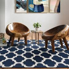 extra large navy blue trellis diamond indoor outdoor carpet 3 sizes available
