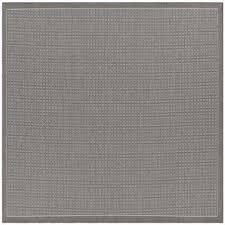 recife saddle stitch grey white 9 ft x 9 ft square indoor