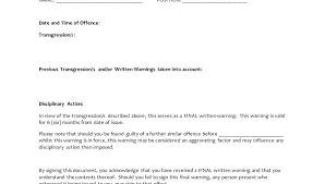 Employee Warning Form Template Free Written Verbal