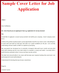 Cover Letter Examples For Jobs Application Resume Cover Letter