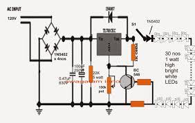 v compact led tubelight circuit electronic circuit projects 110v compact led tubelight circuit