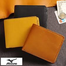 mizuno folio wallet baseball glove leather men man genuine leather leather cowhide box type coin
