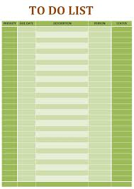Yearly To Do List Template Useful Microsoft Word Microsoft Excel