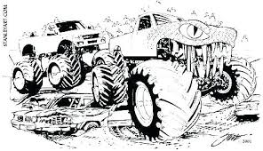 Monster Truck Coloring Pages Printable Coloring Page Monster Truck