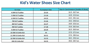 Toddler Girl Shoe Size Chart Betterline Kids Water Shoes For Girls Boys Quick Dry Beach Shoes With Removable Insoles
