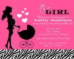 Pink Zebra Baby Shower Invitations