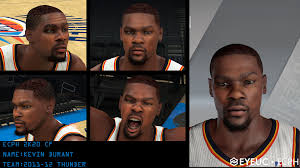 NBA 2K20 Kevin Durant Thunder Cyberface ...