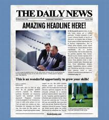 Newspaper Layout On Word 4 Page Microsoft Word Template
