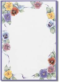Flower Border Designs For Paper Flower Border Stationery Paper Designs Perfect Papers Flower