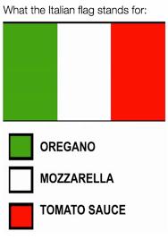 flag color representation paros italian flag