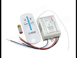 AC 220V To 240V 2 Channels Lamp Wireless Remote Control Switch