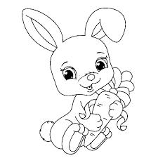 504+ Tranh tô màu con thỏ đáng yêu, kháu khỉnh cho bé tập tô