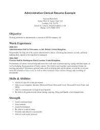 Clerical Resume Template Awesome Clerical Resume Samples Free Resumes Examples Of Throughout
