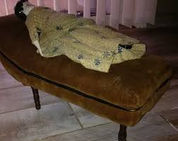 vintage fainting couch. Fainting Couch, Vintage Doll Sized Miniature Velvet Couch Vintage Fainting Couch