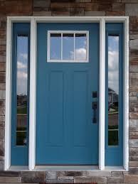 blue front doorFront door color