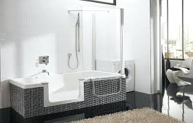 excellent walk in bathtubs with shower tubs and showers modern kohler archer tub ba