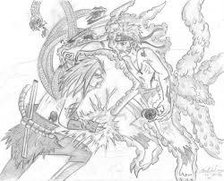 Naruto Rasengan Vs Sasuke Chidori Coloring Pages