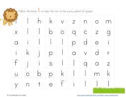 letter l maze printable 1