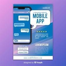 Design Flyer App Mobile App Flyer Template Vector Free Download