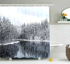 lake shower curtain words house rules scene cottage cabin curtains lak
