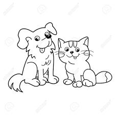 Kleurplaat Hond En Kat Cute Kitten Coloring Pages For Kids Litle Pups