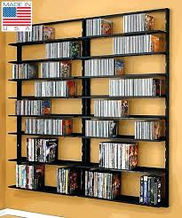 wall mounted rack storage unit retro style shelving for mountable dvd cabinet with doors st