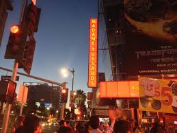 one shade the more finding a vantage point in la teen travel talk the sign for the wax museum a major attraction on hollywood boulevard note the