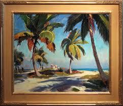 emile gruppe oil painting crandon park miami florida