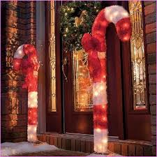 Large Candy Cane Decorations Outdoors