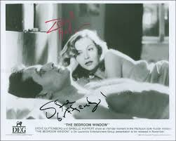 THE BEDROOM WINDOW MOVIE CAST   PHOTOGRAPH SIGNED CO SIGNED BY: STEVE  GUTTENBERG, ISABELLE HUPPERT   HFSID 299874