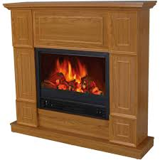 decor flame electric fireplace space heater with wide mantle oak chimney free stove infrared quartz small